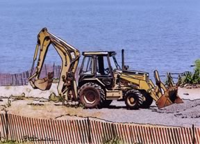 tractor working in Laurence Harbor, NJ