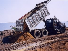 large dump truck - Laurence Harbor